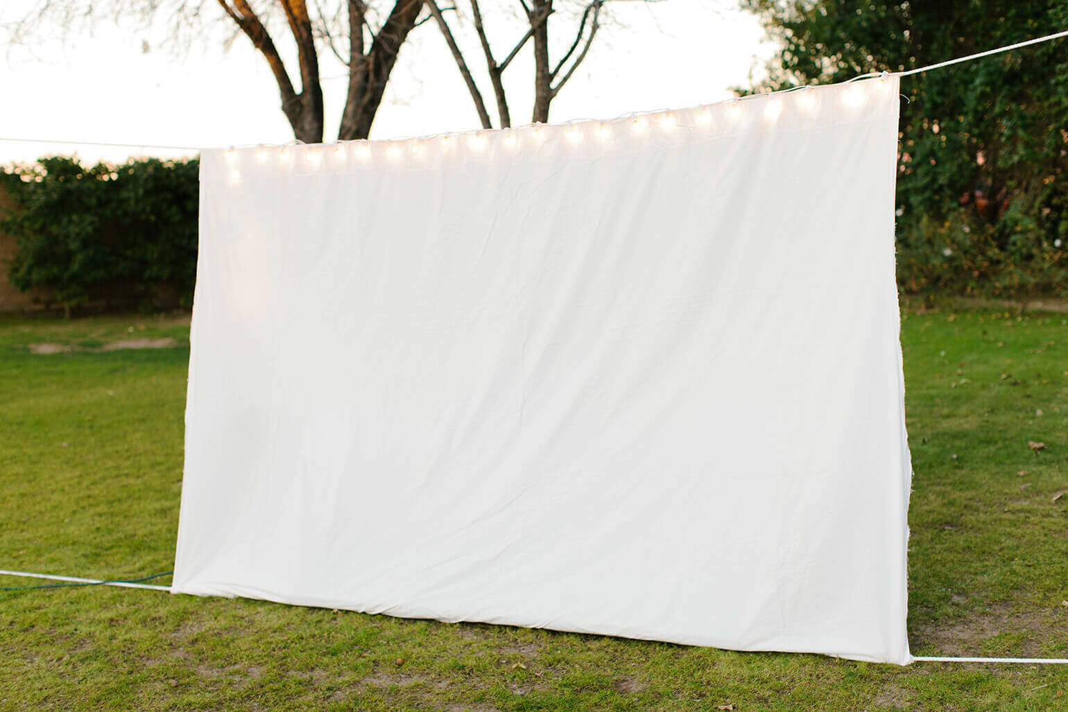 throw a backyard movie party off repellent