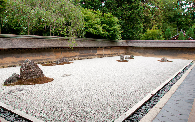 Ryoanji Temple Zen Garden In Kyoto, Japan
