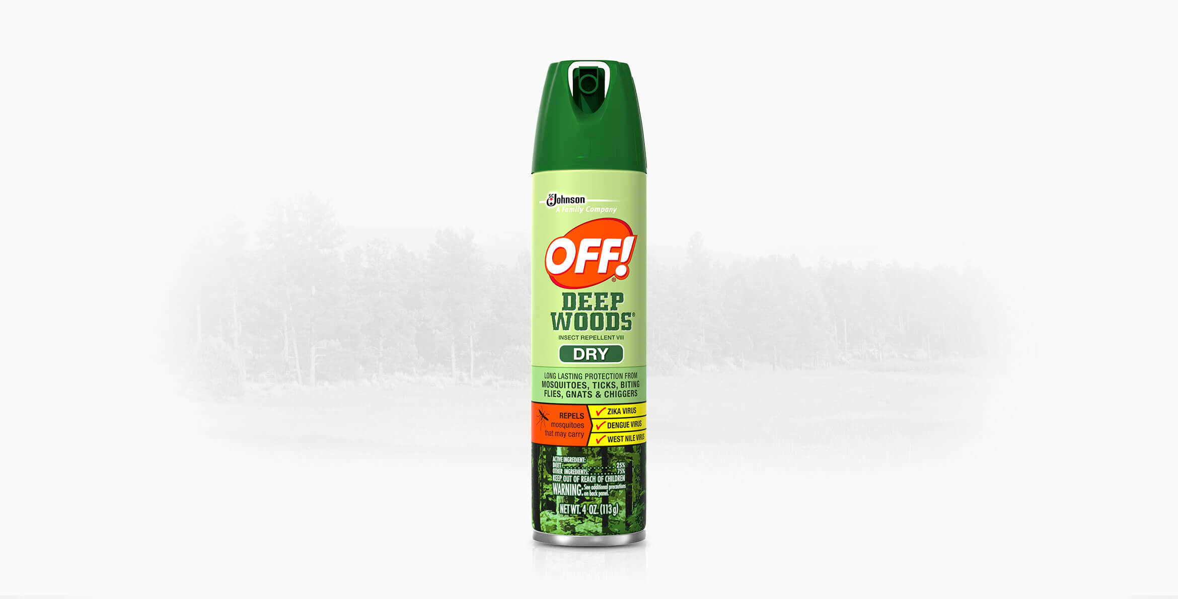 OFF! Deep Woods® Insect Repellent VIII (Dry)